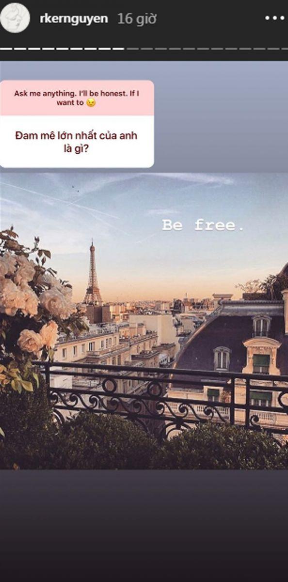 Hiện tại điều anh mong muốn nhất là sự tự do