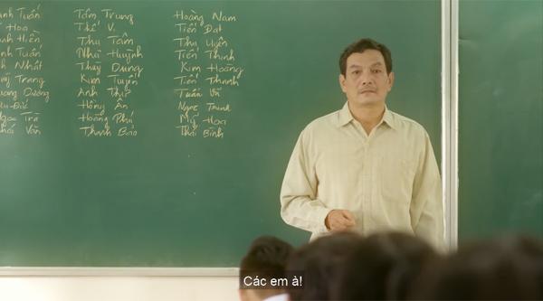 Thầy nói lời chia tay lớp - khóa cuối cùng thầy làm chủ nhiệm.