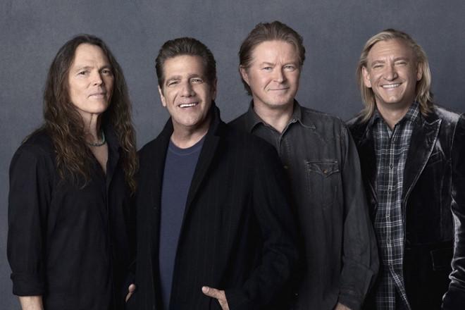 Sau cái chết của Glenn Frey, The Eagles tạm thời nghỉ ngơi một năm, và lại tiếp tục hoạt động từ 2017. Ảnh: NME.